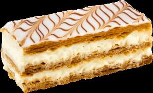 Biscuit et crème pâtissière